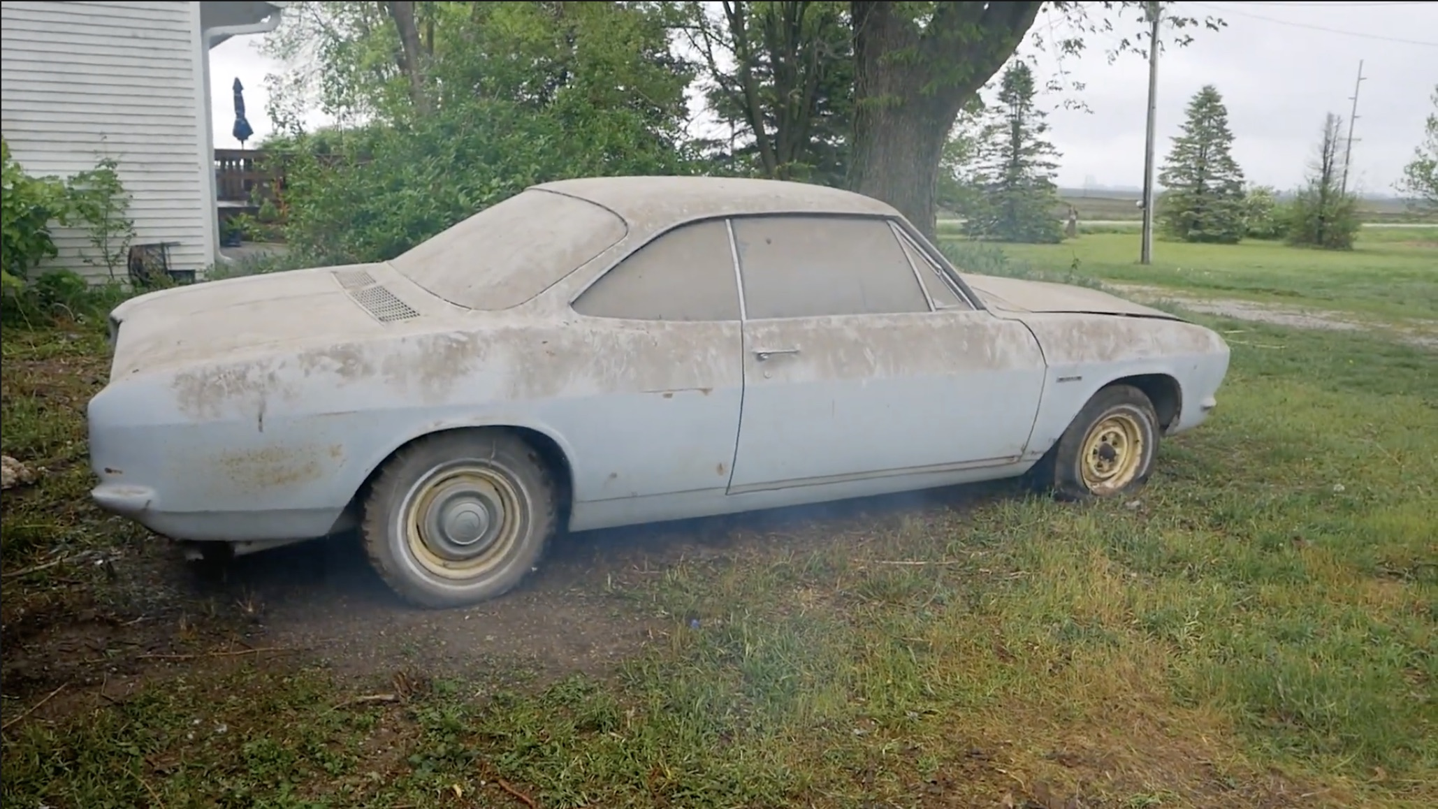 Eat This, Nader: Waking Up A Dusty Corvair And Bringing It Out Into The Light