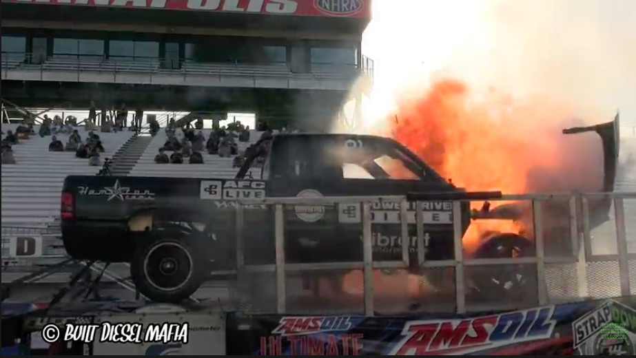 Pistons In The Stands Literally: Watch The Power Driven Diesel Ram Explode At Ultimate Call Out Challenge 2021