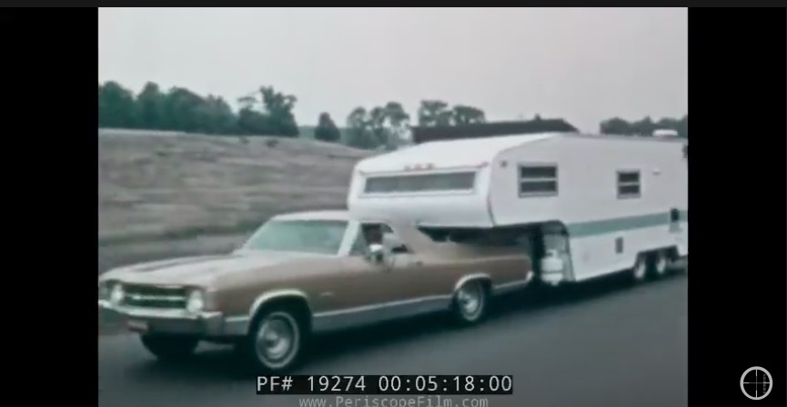 This 1972 Video Featuring Chevy Trailers And RVs Is So Cool – An El Camino With A 5th Wheel?!