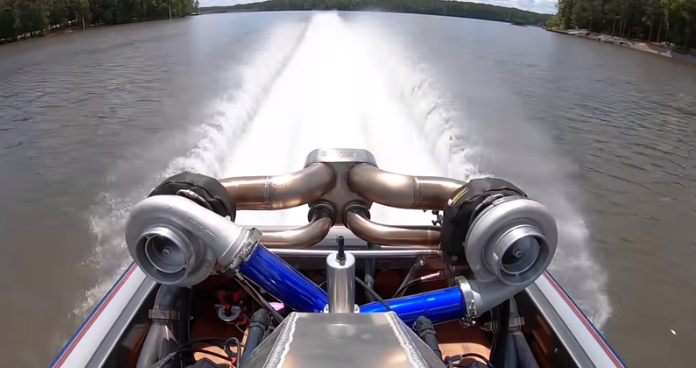 Finnegan's Twin Turbo Jet Boat Finally Hauls Some Ass! Watch Out World, Mike Is Going 130 MPH Now!
