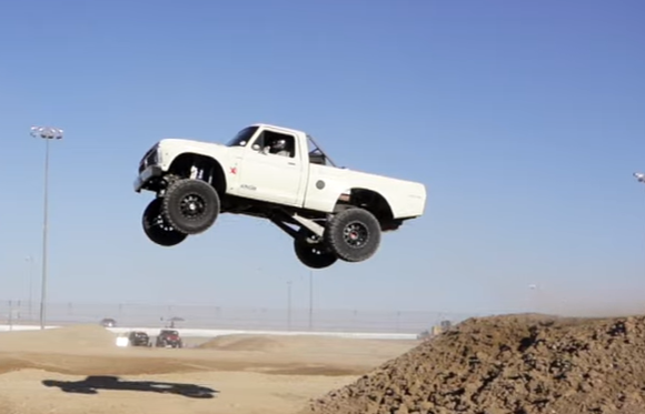 """LS Fest West 2021: Meet """"Hank"""" the High-Flying LS-Swapped Ford F100. Rad Doesn't Begin To Describe This"""