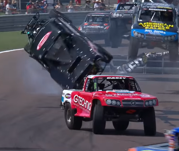 Stadium Super Trucks High Flying Action From Darwin in Australia. Wheel To Wheel, Sideways, In The Air, And More!