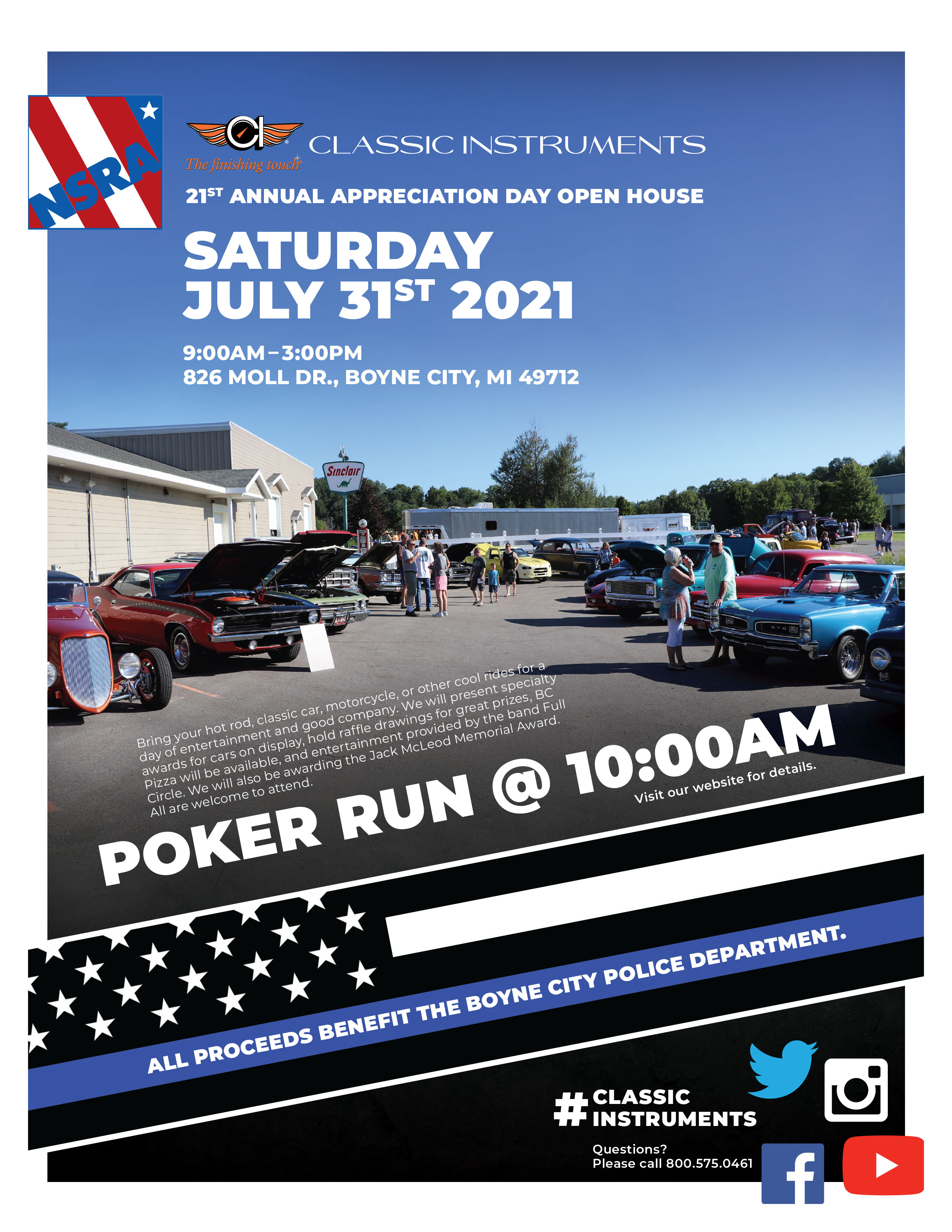 Everyone Is Welcome! Join Us For The Classic Instruments Open House And Poker Run July 31st!