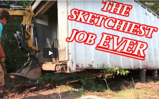 Abondoned Race Track Project: Awesome, Or Awful? The Sketchiest Big Rig Trailer Haul Out Ever