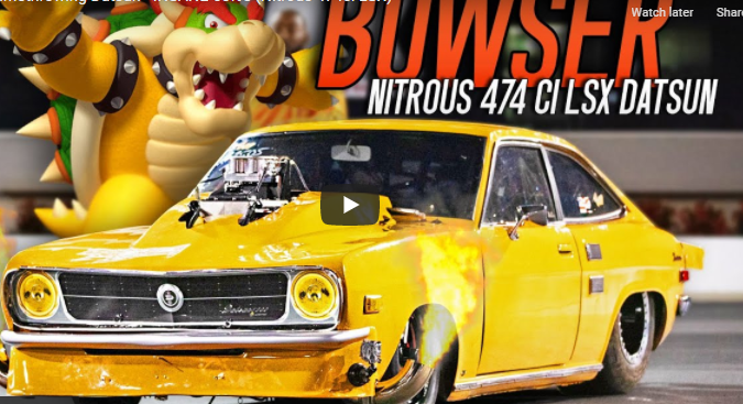 Meet Bowser, The Nitrous Huffing 474 Cubic Inch LS Powered Datsun With A 92 Inch Wheelbase And A Ton Of Attitude!