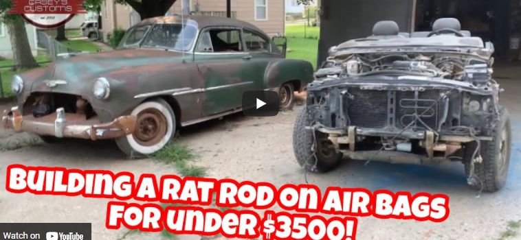 $3,500 Build: Can You Build A Chopped, Bagged, And Chassis Swapped 1954 Chevrolet For Just $3,500? Watch This!