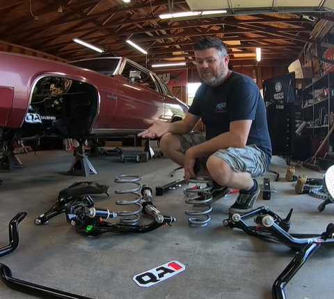 The Chicken Coupe: Pro-Touring Cadillac Coupe Deville Project Continues! Suspension And Brakes!