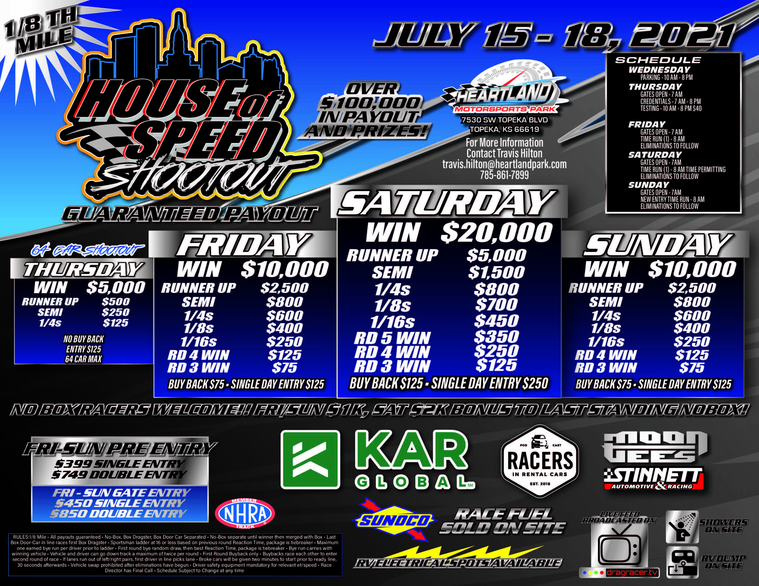 FREE LIVE STREAMING VIDEO: Big Money Bracket Racing At Heartland Motorsports Park's House Of Speed Shootout