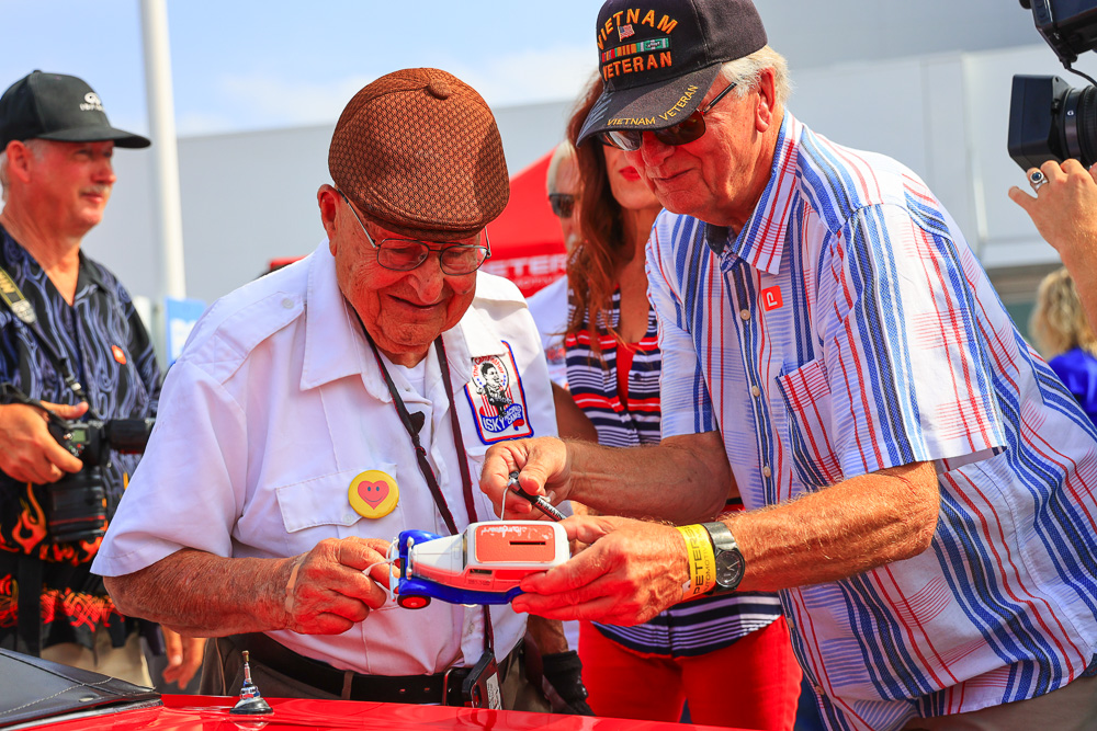 Awesome Images: Ed Iskenderian's 100th birthday At Bruce Meyer's American Car Cruise-In!