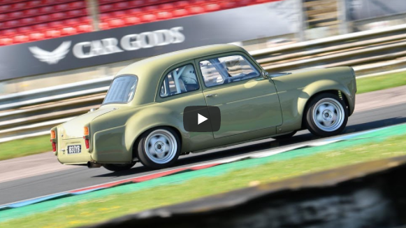 THE MONGREL RIPS AT THRUXTON CIRCUIT: The Ford 100e On A Miata Chassis Hauls Ass On The Road Course!