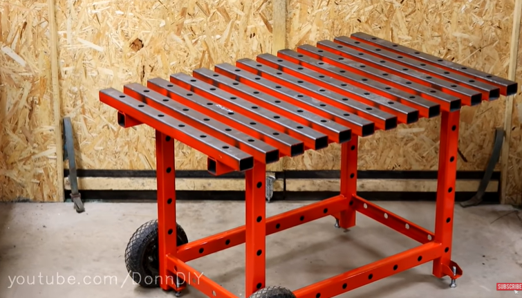 Simple, Cool, And Effective Mobile Welding Table Project You Can Do At Home!