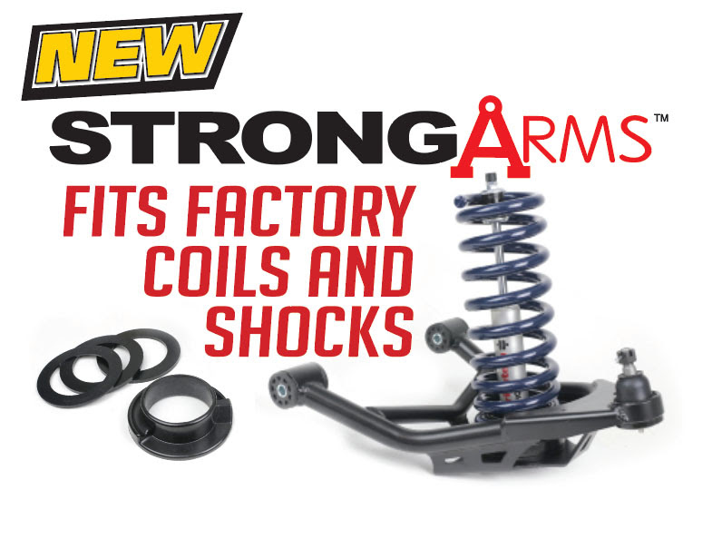 Ridetech Unveils New Strong Arms For Factory Coils: No Need To Run Coil Overs To Get The Best Geometry And Strength