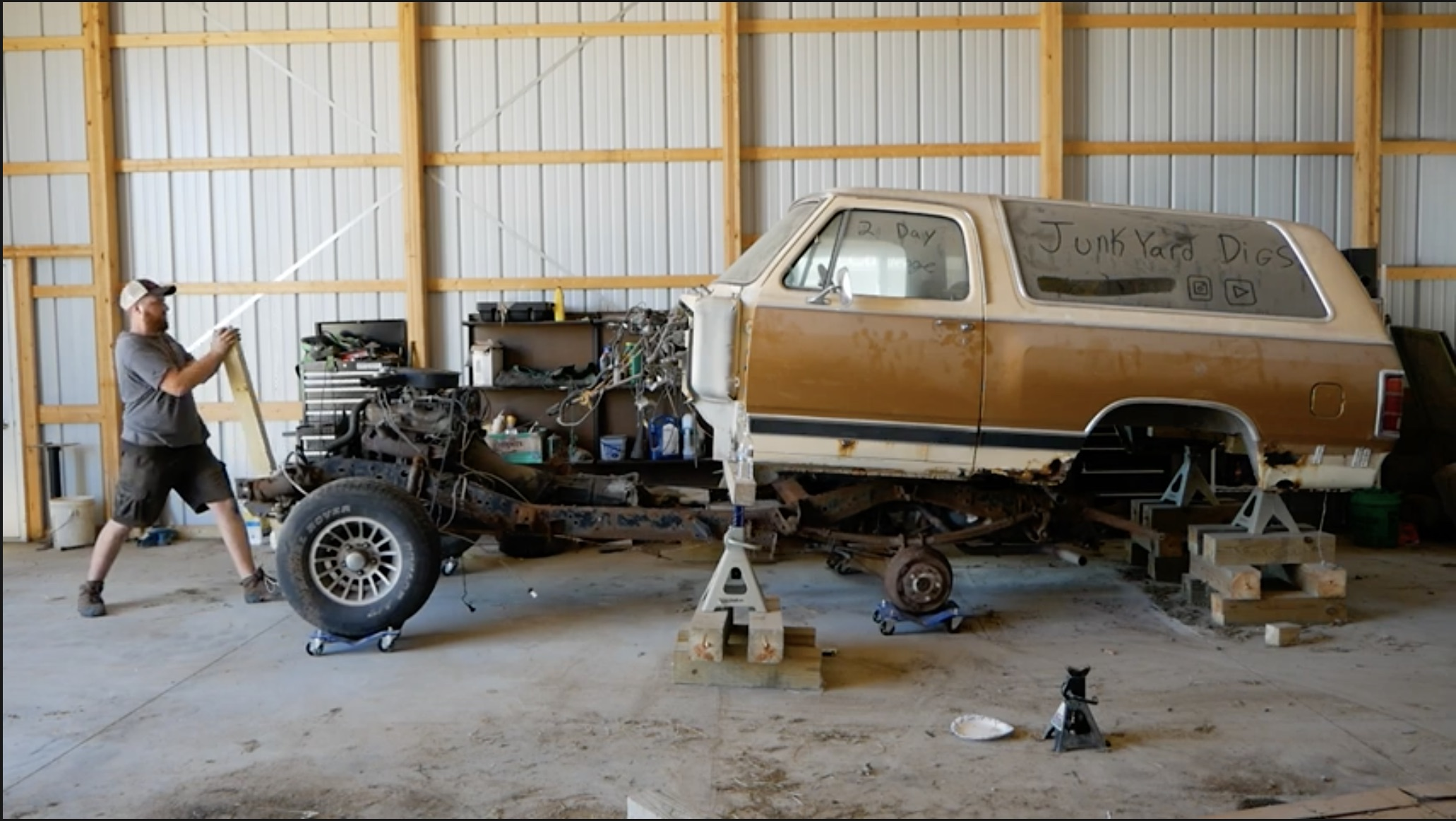 Skill Level 3: Reviving A Dodge Ramcharger That's In Pieces
