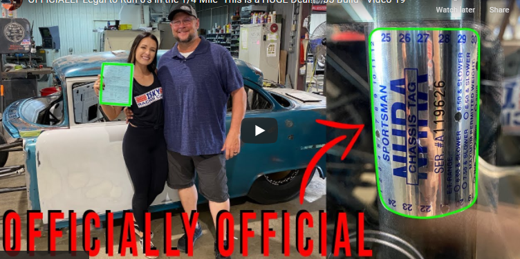 Alex Taylor's Quest For The 6's 1955 Chevy Project Is Legal! They Got Their NHRA Chassis Cert!