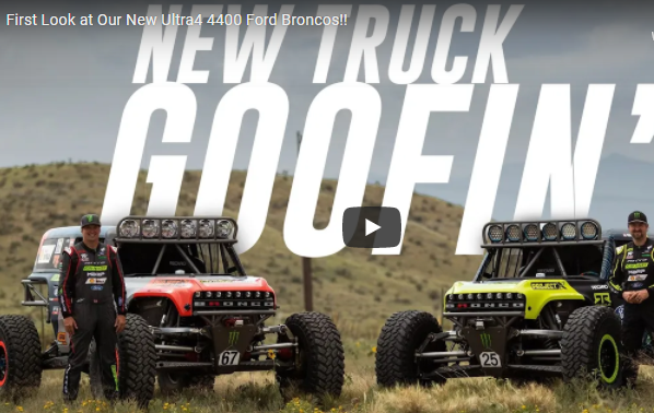First Look at The New Fun-Haver Ultra4 4400 Ford Broncos! Vaughn Gittin Jr. And Loren Healy Are Stoked!