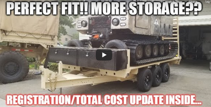 Army Truck Trailer Build Finale: Storage, Registration, Build Costs, More Mods, And More!
