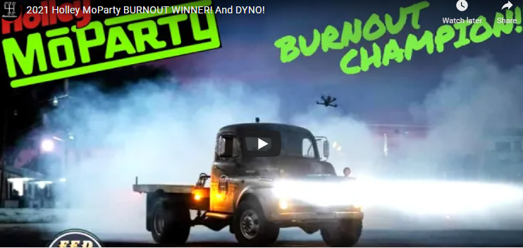 Winning Burnout Video From Holley's Moparty In Bowling Green. Dually Burnouts Rule!