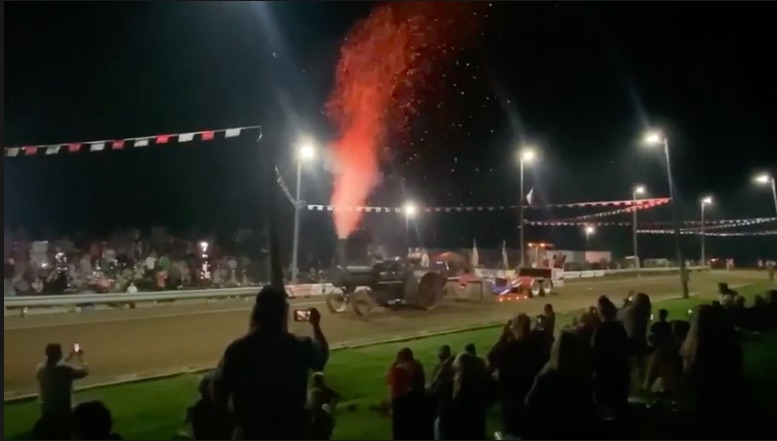 Mt Vesuvius On Steel Wheels: Check Out This Steam Tractor Pulling The Sled For Fun
