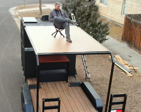 The Crawler Hauler Project Is Getting All Kinds Of Updates! Second Story Deck, Covered Porch, Fire Pit, And More!