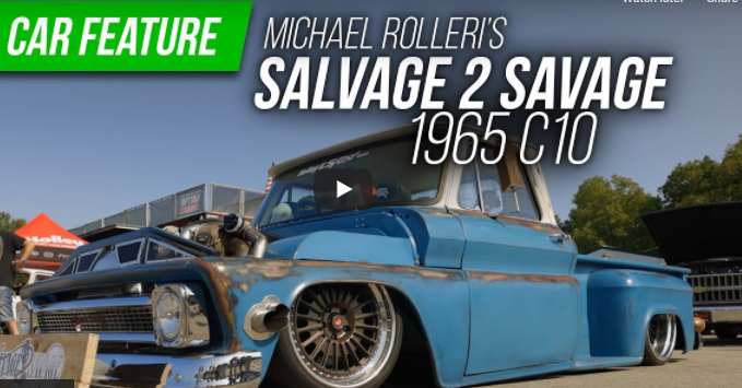 Holley LS Fest 2021: Twin-Turbo, Bagged 1965 Chevrolet C10 Is A Tire-Smoking, Rolling Billboard