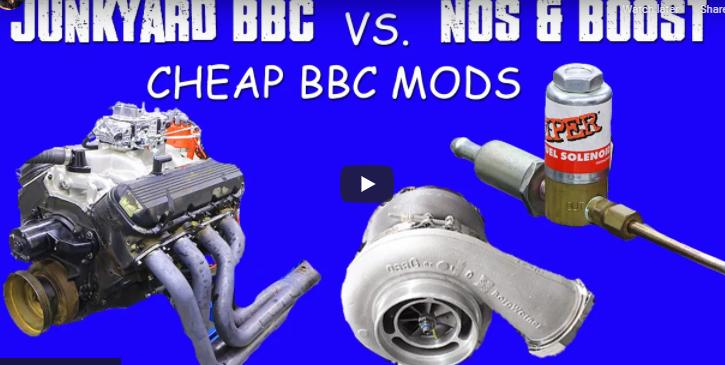 HOW TO MAKE CHEAP BBC POWER. JUNKYARD 454 VS NITROUS AND TURBO. DIY POWER, BOOST, BIG BLOCK.