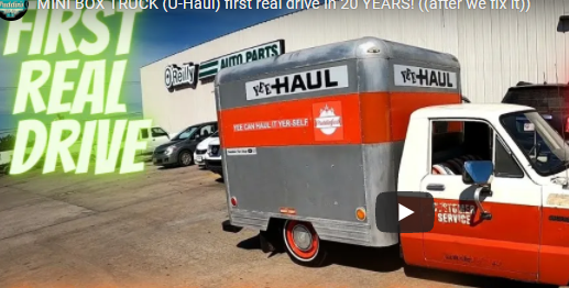 Puddin Takes The Mini UHaul For It's First Drive in 20 Years, But It Wasn't Easy!